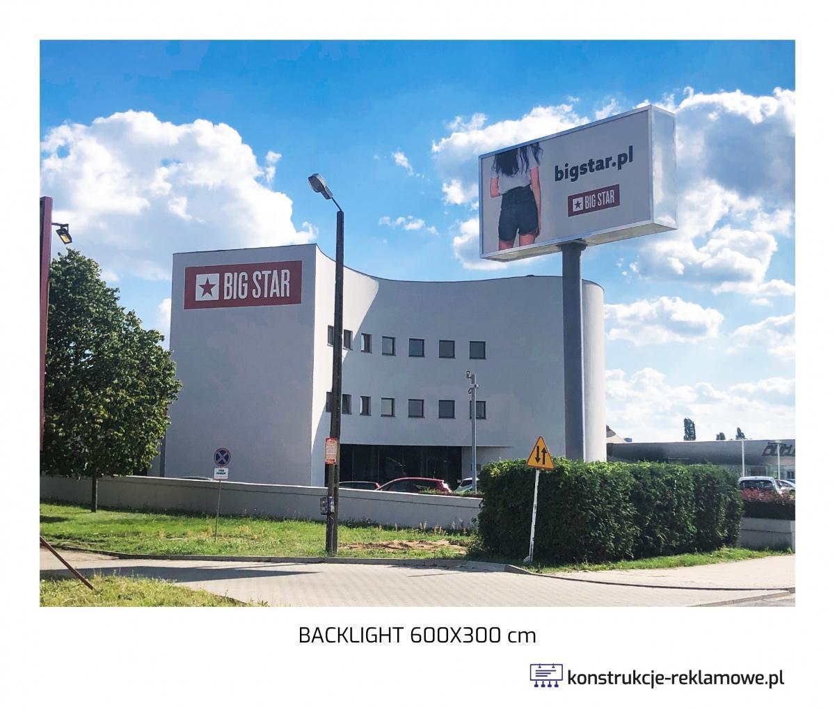 Backlight 600 x 300cm - konstrukcje-reklamowe.pl