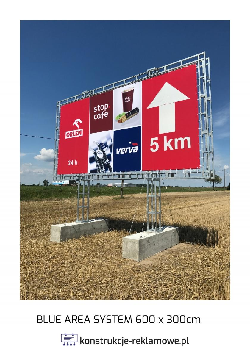 Blue Area System bilboard 600 x 300cm - konstrukcje-reklamowe.pl