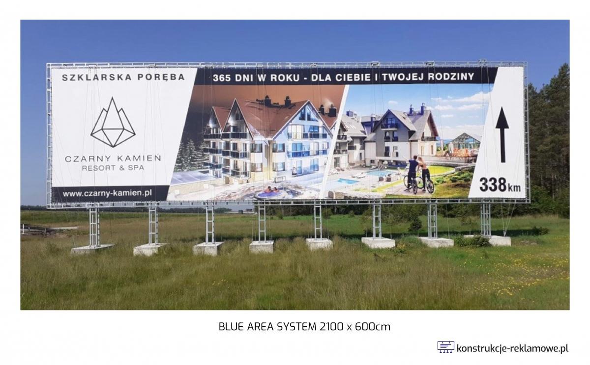 Blue Area System bilboard 2100 x 600cm - konstrukcje-reklamowe.pl