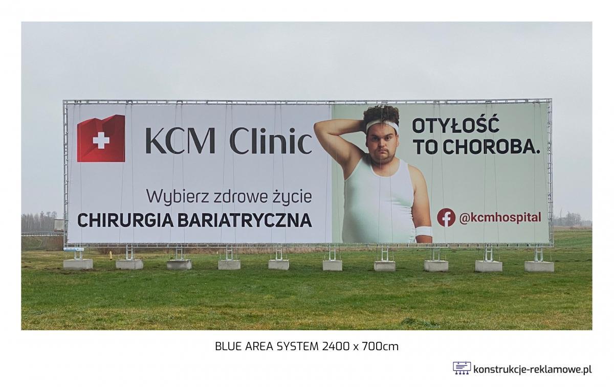Blue Area System bilboard 2400 x 700cm - konstrukcje-reklamowe.pl