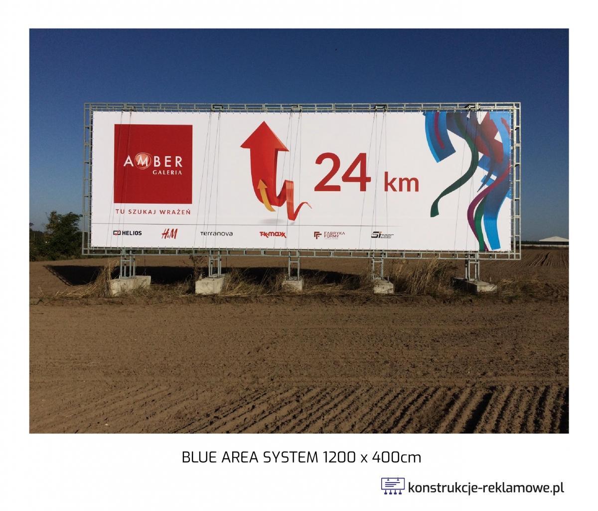 Blue Area System bilboard 1200 x 400cm - konstrukcje-reklamowe.pl