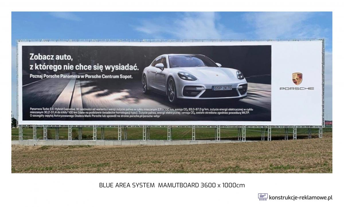 Blue Area System Mamutboard 3600 x 1000cm - konstrukcje-reklamowe.pl